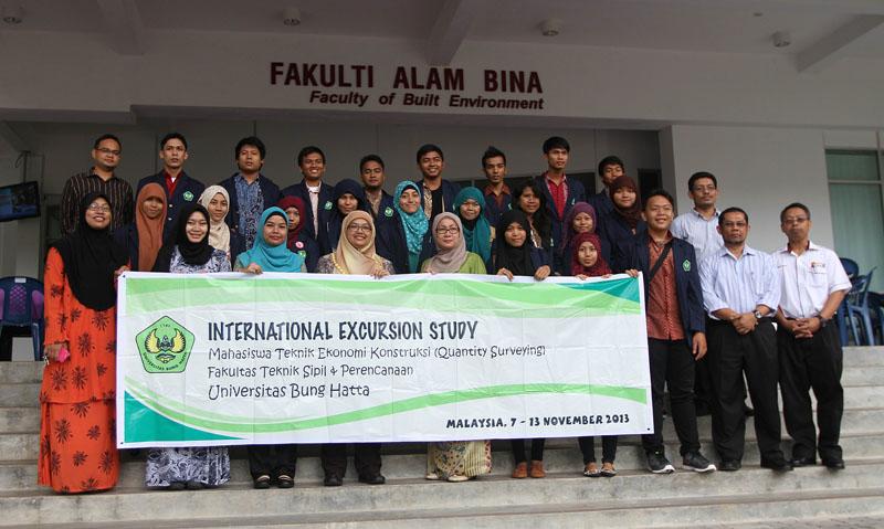 Lawatan Fakultas Teknik Sipil & Perencanaan, Universitas Bung Hatta (7th – 13th November 2013)