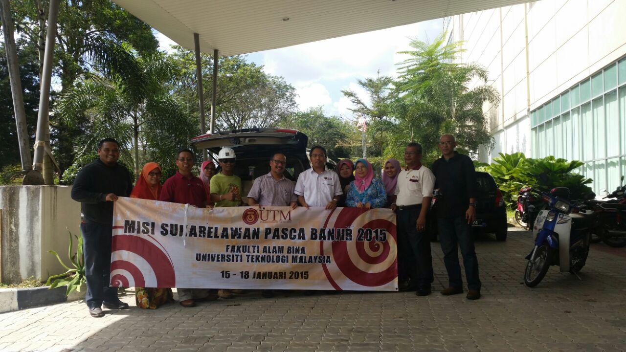 Misi Sukarelawan Pasca Banjir 2015 Fakulti Alam Bina