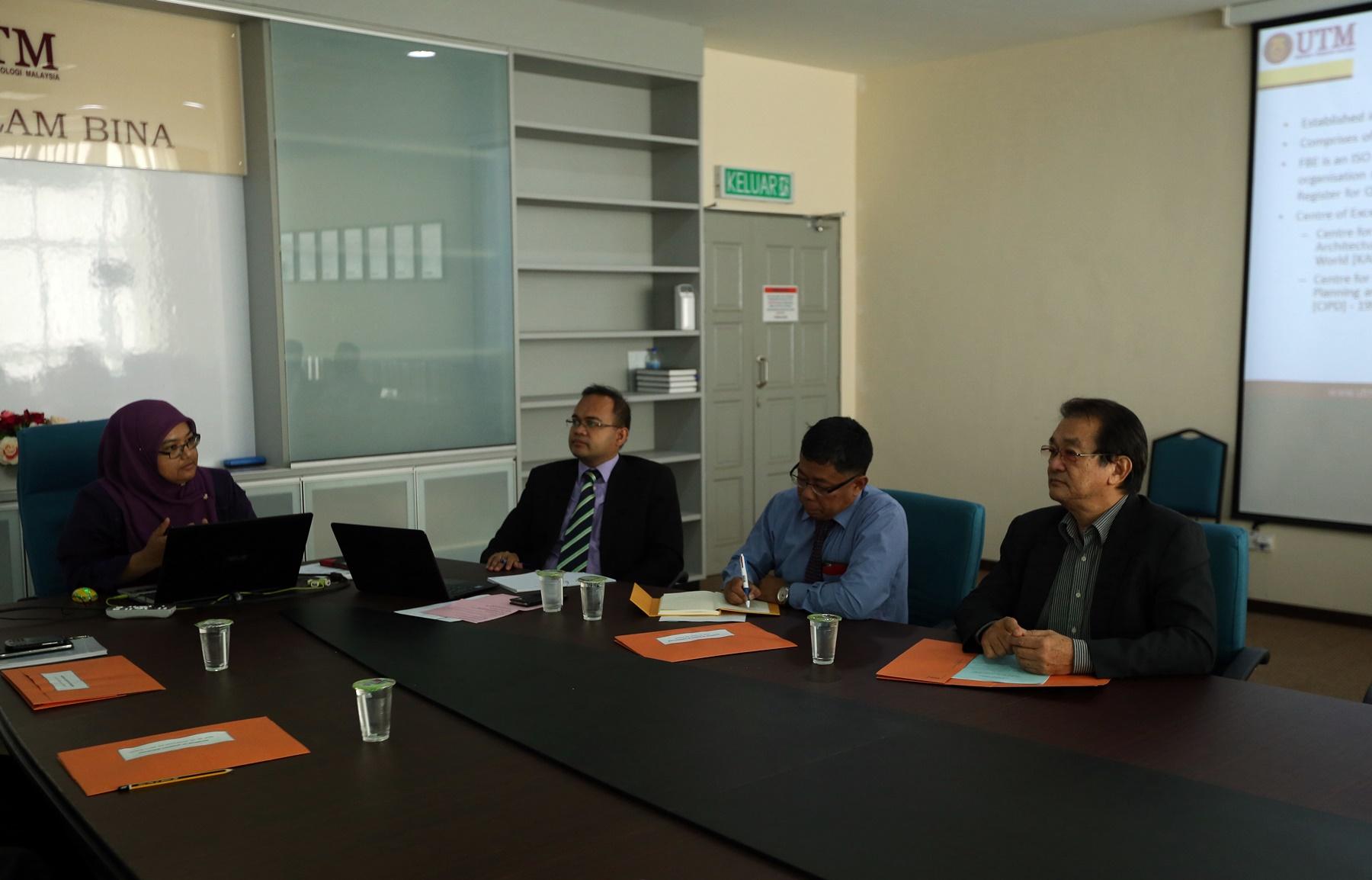 External Examiner Visit (Department of Quantity Surveying) – 3 June 2015