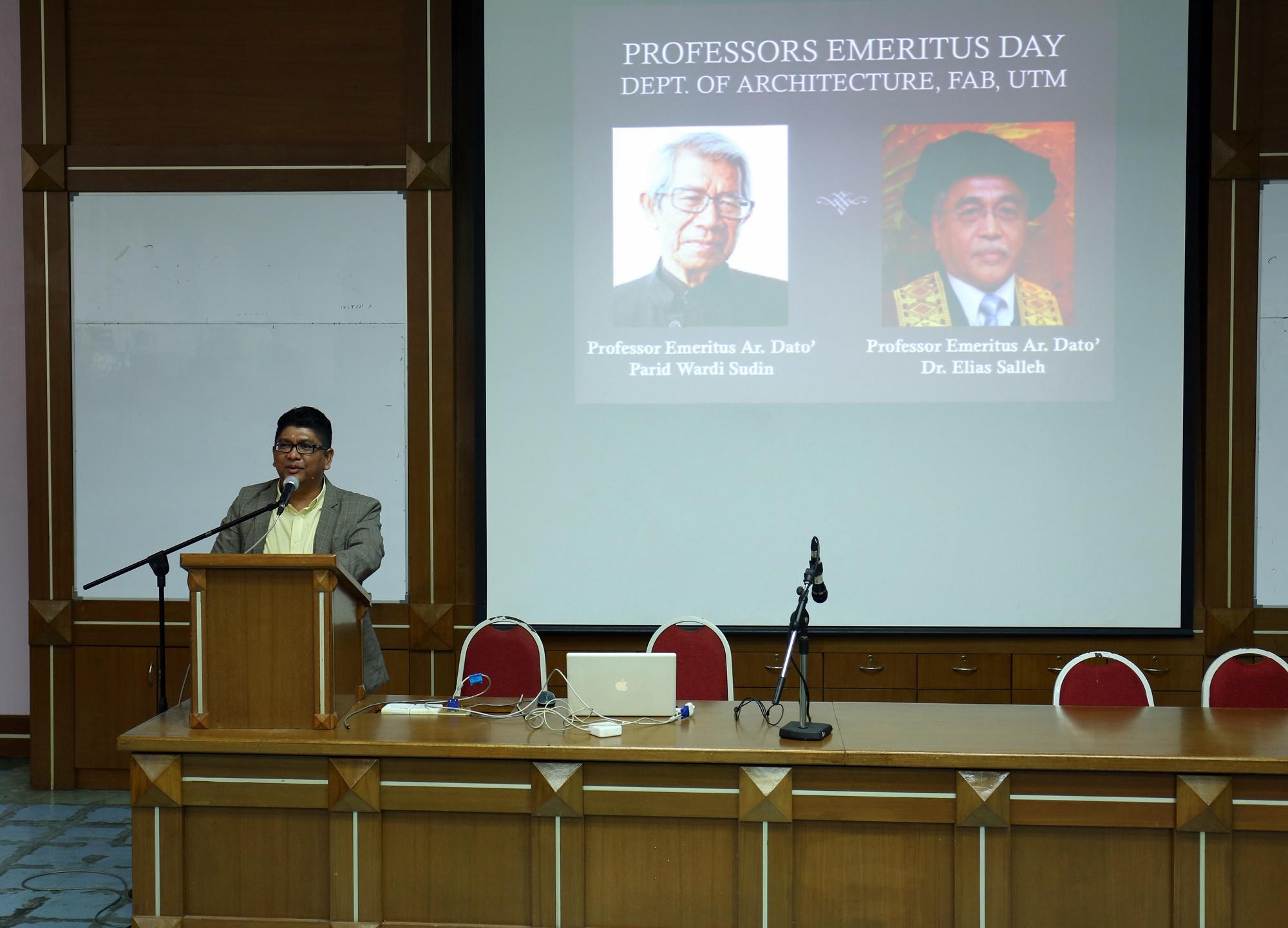 Professors Emeritus Day, Department of Architecture (5 October 2015)