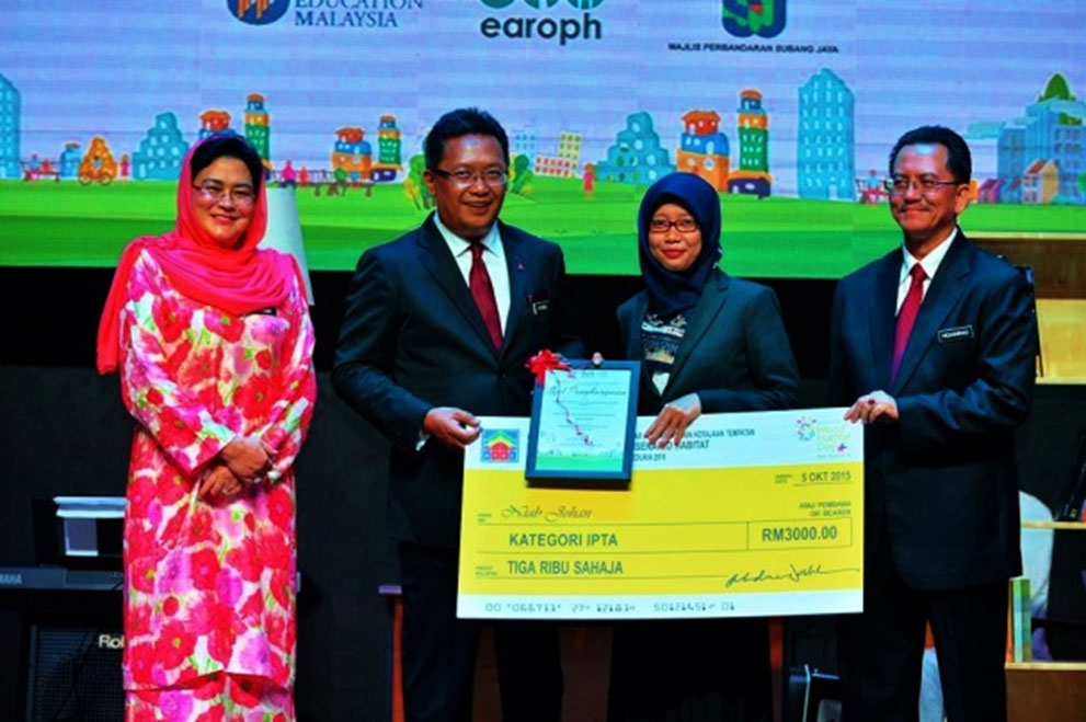 """UTM Faculty of Built Environment Students Won Second Prize at the """"Analysis of Habitat Scenario 2015"""" Competition"""