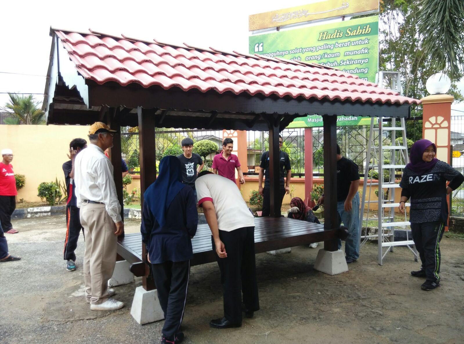 Pemasangan Wakaf di Masjid Kangkar Pulai bersama Pelajar Landskap Tahun 2