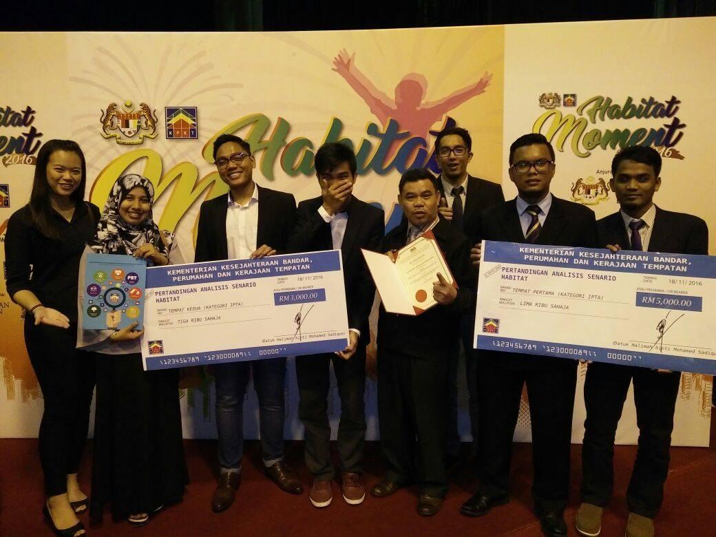 Kemenangan Pelajar FAB UTM di Pertandingan Habitat Peringkat IPT anjuran KPKT