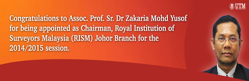 Congratulations to Assoc. Prof. Sr. Dr Zakaria Mohd Yusof