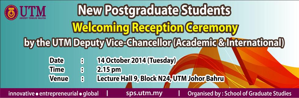Majlis Resepsi Pelajar Pascasiswazah Baru Bersama Y. Bhg. TNC (A&A)
