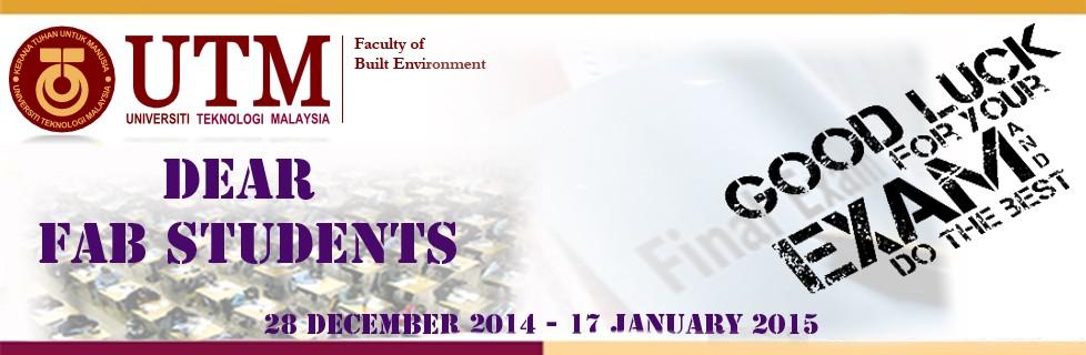 Good Luck Examination Semester 1 2014/2015