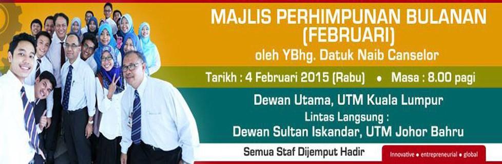 Majlis Perhimpunan Bulanan Naib Canselor Februari 2015