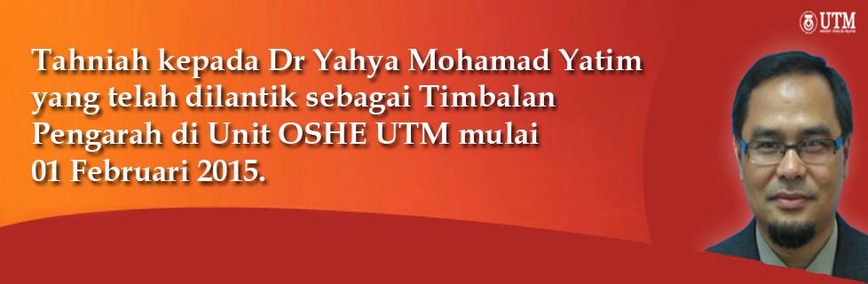 Tahniah kepada Dr Yahya Mohamad Yatim