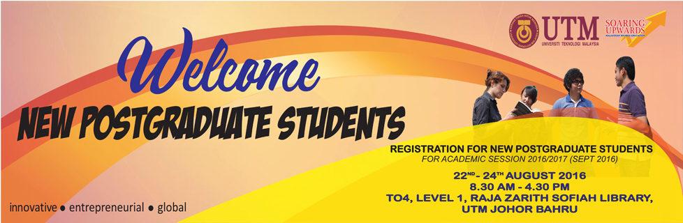 Registration for New Postgraduate Students 2016/2017