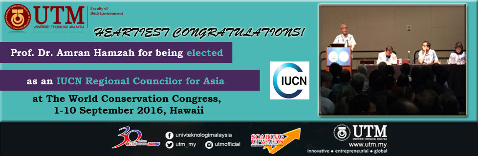 Prof Amran Hamzah for being elected as an IUCN Regional Councilor