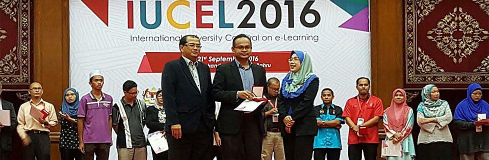 Sr. Dr. Sarajul Fikri Mohamed Won Gold Medal Award at the International University Carnival on e-Learning (IUCEL 2016)