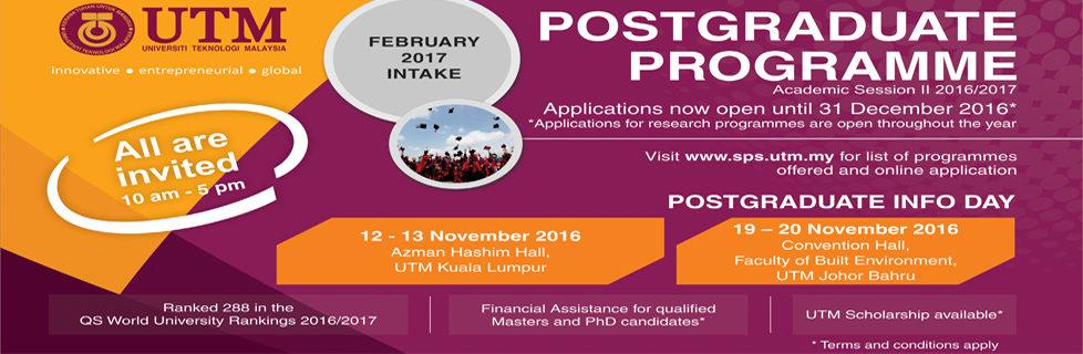 Postgraduate Info Day 2016