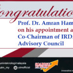 Prof. Dr. Amran's Appointment as Co-Chairman of IRDA Future City Advisory Council