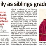 Double joy for family as siblings graduate together