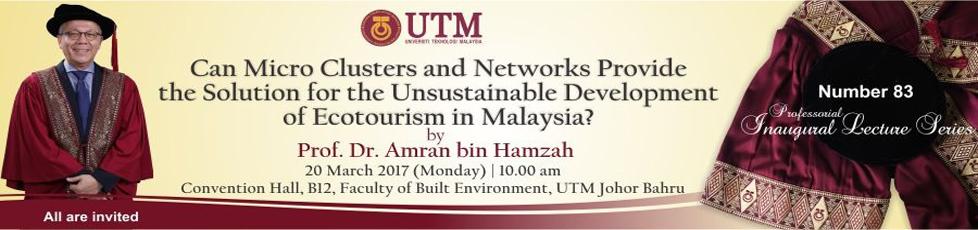 83rd Professorial Inaugural Lecture Series by Professor Dr. Amran Hamzah