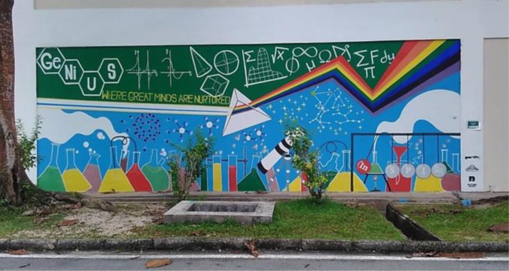 Mural Art Painting for GEMPAK Community Service in UTM 2017