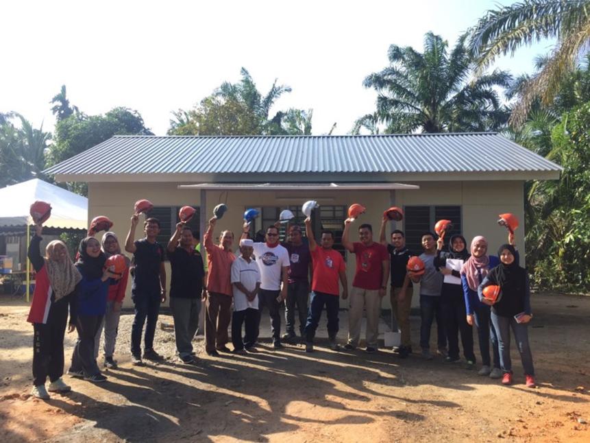 Communal Voluntary Works to Build Rumah Ihsan Johor