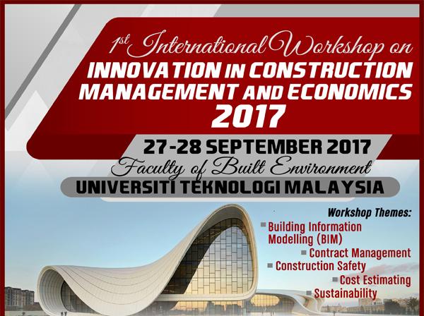 1st International Workshop on Innovation in Construction Management and Economics 2017