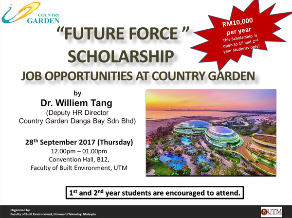 """Future Force Scholarship"" Job Opportunities at Country Garden"