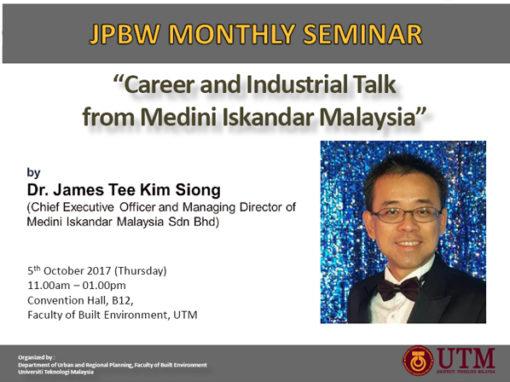Career/Industrial Talk from Medini Iskandar Malaysia