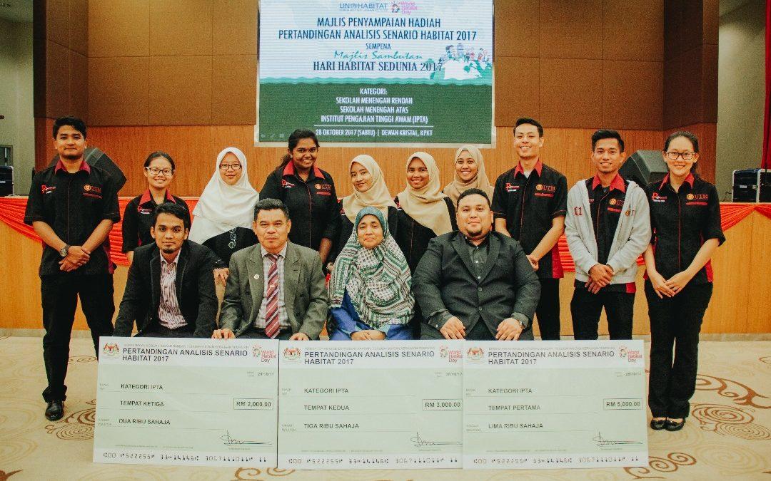 Pelajar UTM Mendominasi Pertandingan Akhir Analisis Senario Habitat 2017 Peringkat IPTA