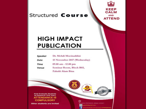 Structured Course – High Impact Publication