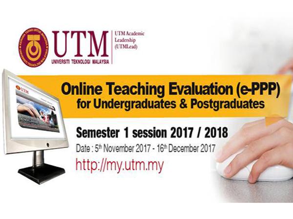 Penilaian Pengajaran Pensyarah secara Elektronik (ePPP) Sesi 1-2017/2018