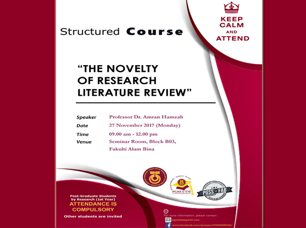 Structured Course – The Novelty of Research: Literature Review