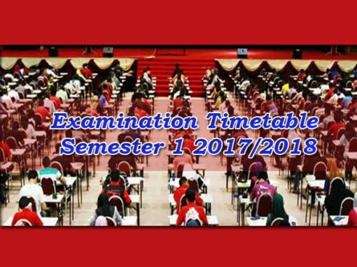 Examination Timetable Semester 1 2017/2018