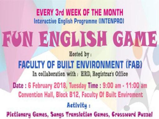 Interactive English Program (INTENPRO) 2018