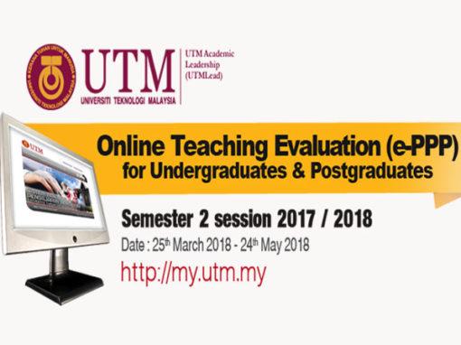 Penilaian Pengajaran Pensyarah secara Elektronik (ePPP) Sesi 2-2017/2018