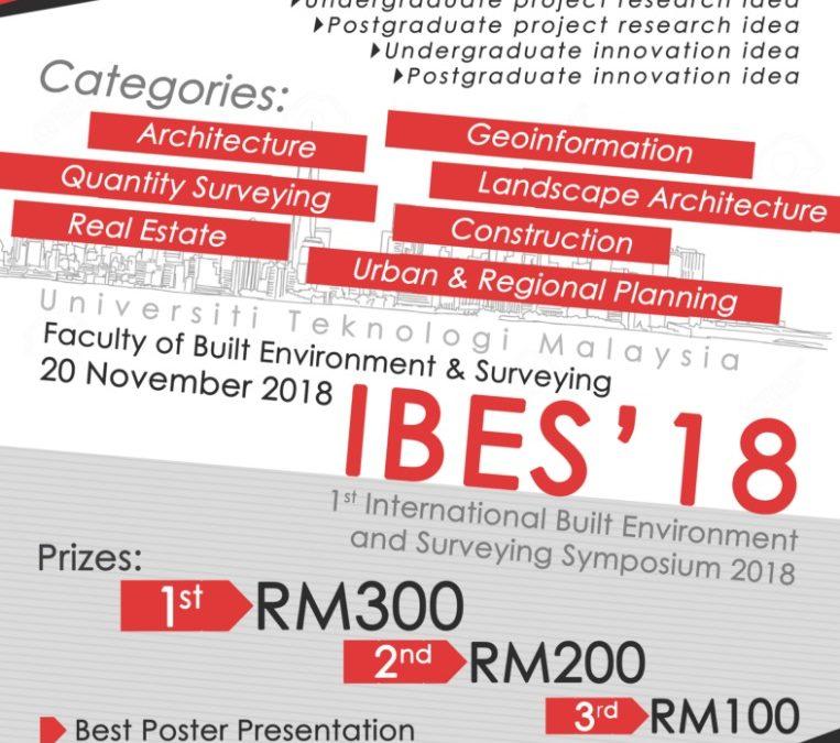Ist International Built Environment and Surveying Symposium 2018