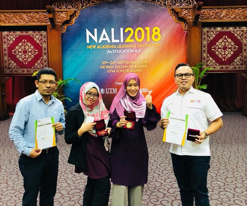 Congratulations to Sr Dr. Muzani Mustapa, Sr Dr. Fara Diva Mustapa, Pn Tantish Kamaruddin & Sr Dr. Rosli Abdul Rashid in recent NALI 2018 Exhibition and Competition