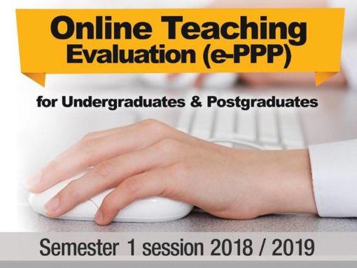 Online Teaching Evaluation (e-PPP) Semester 1 2018/2019