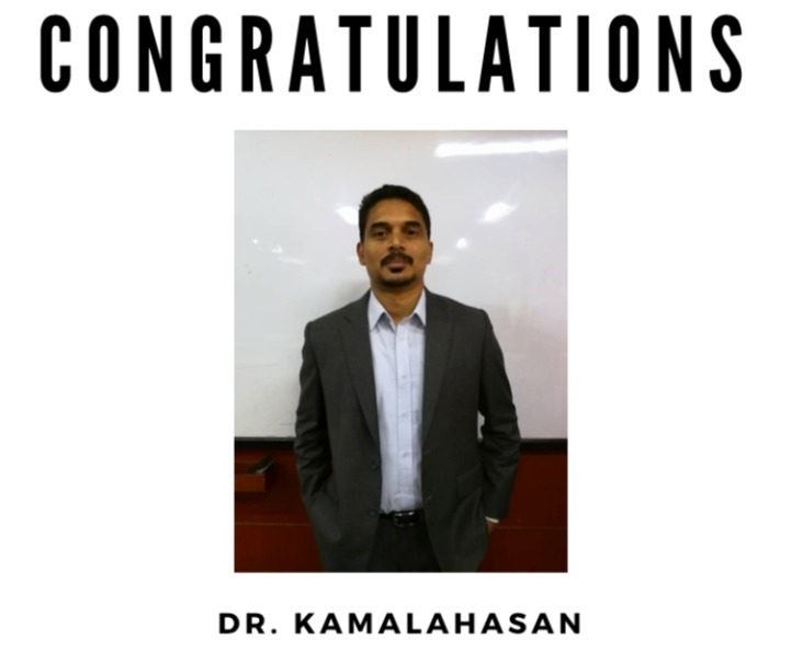 Congratulations Dr. Kamalahasan appointed as Vice Chairman of Royal Institutions of Surveyors Malaysia (RISM), Johor Chapter