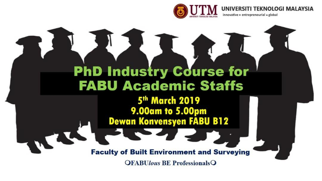 PhD Industry Course for FABU Academic Staffs
