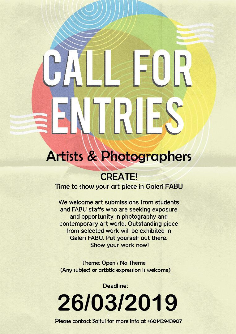 Call For Entries Artists & Photographers