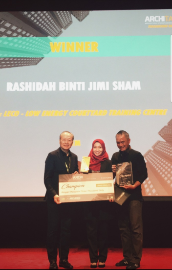 UTM Architecture Student Champion at the ArchiTalent Award at Kuala Lumpur Architecture Festival (KLAF) 2019