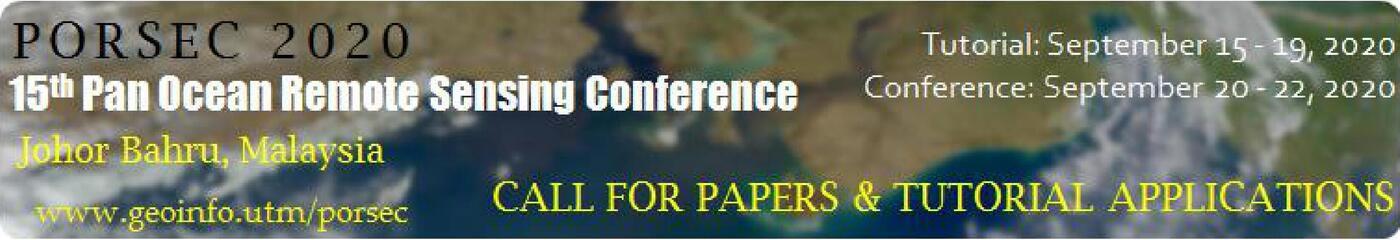 15th Pan Ocean Remote Sensing Conference (PORSEC) 2020