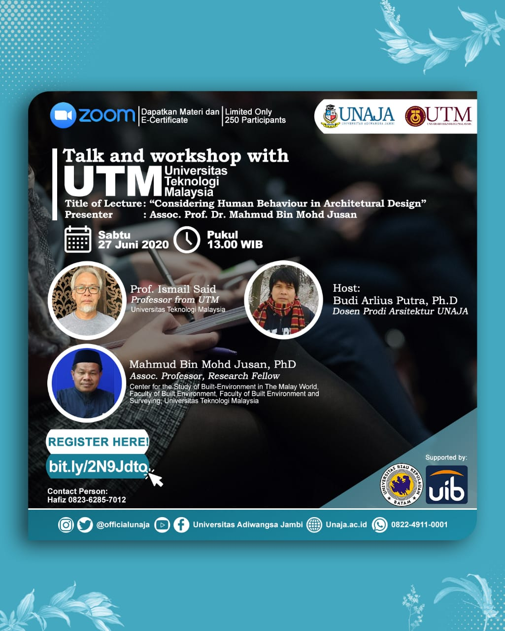 Talk and Workshop with UTM
