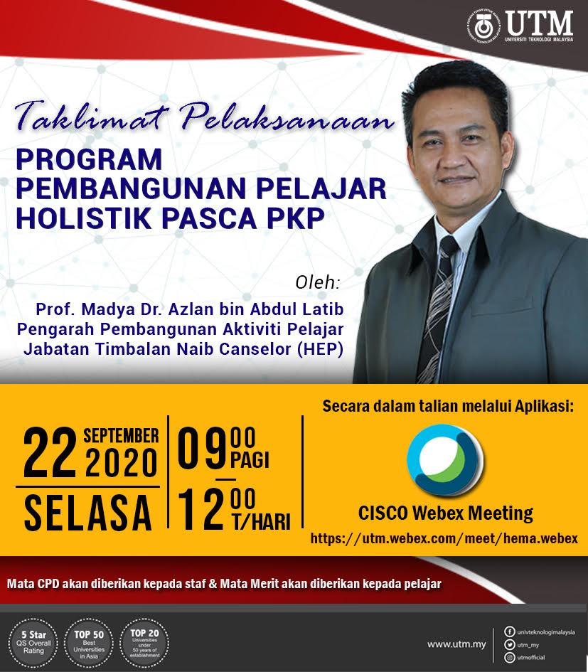 Taklimat Pelaksanaan Program Pembangunan Pelajar Holistik Pasca PKP