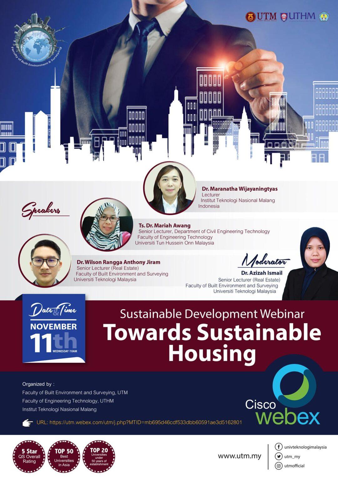 Sustainable Development Webinar: Towards Sustainable Housing