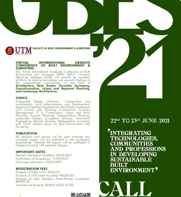 CONFERENCE OF BUILT ENVIRONMENT AND SURVEYING 2021 (GBES 2021)