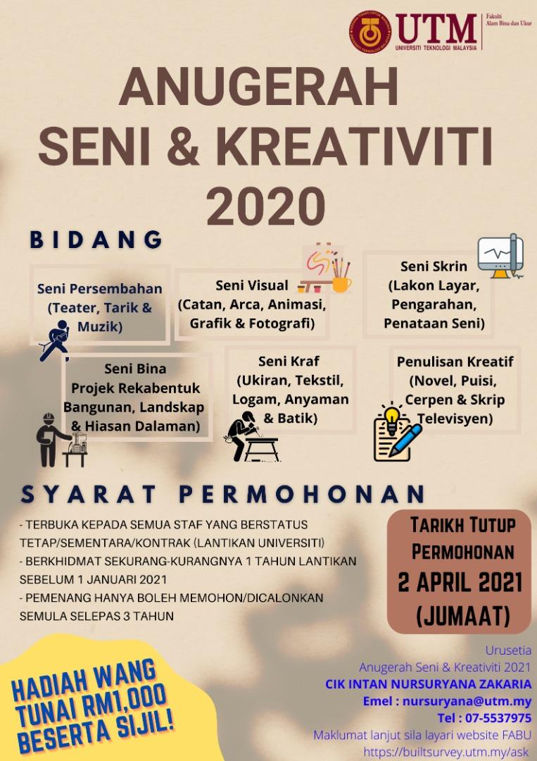 Anugerah Seni dan Kreativiti 2020
