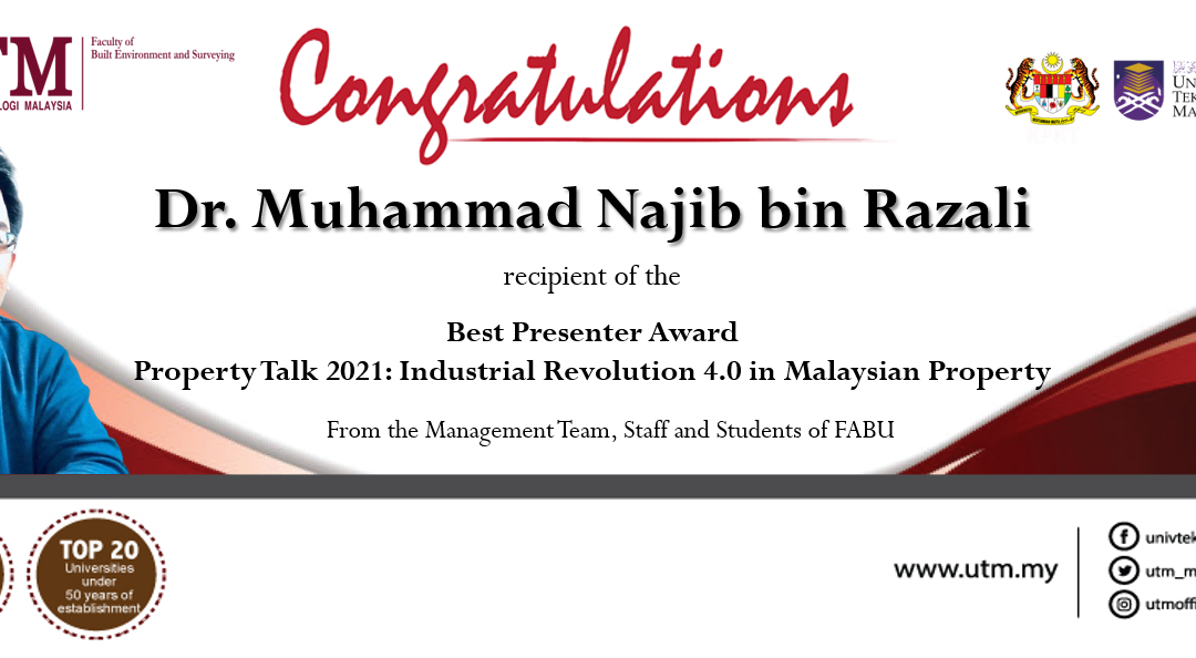 Warmest congratulations on your achievement Dr. Muhammad Najib bin Razali