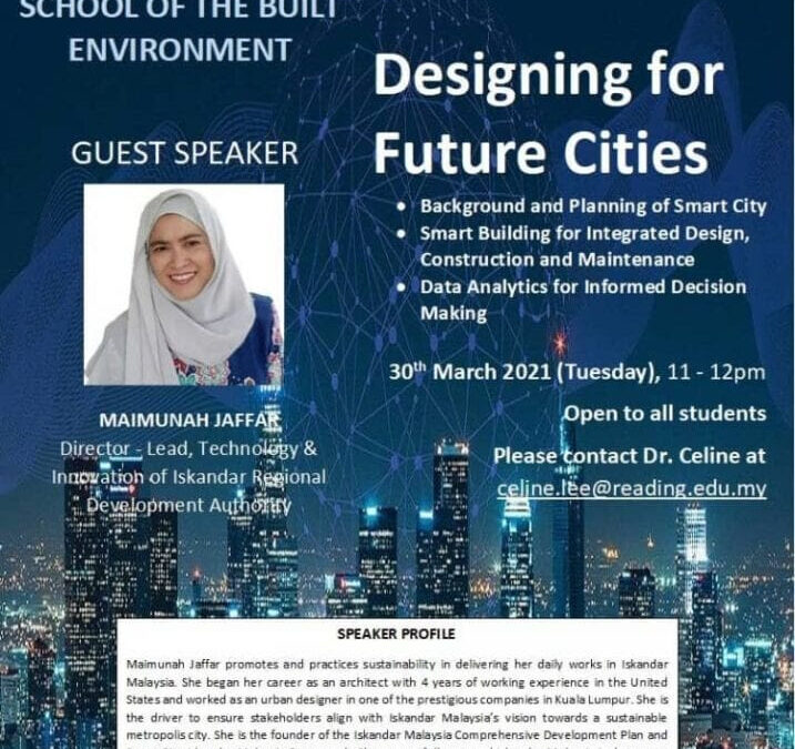 """THE SECOND WEBINAR ENTITLED """"DESIGNING FOR FUTURE CITIES"""" SUCCESSFULLY CO-ORGANISED BY UTM-UoRM-TkU"""