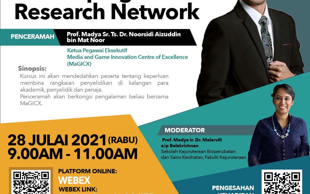 Kursus RDCI bertajuk Developing Research Network