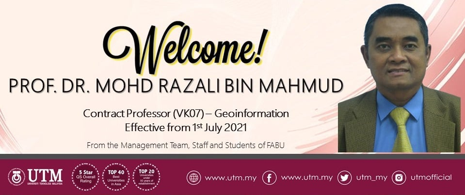 Welcome back to the office Prof. Dr Mohd Razali bin Mahmud