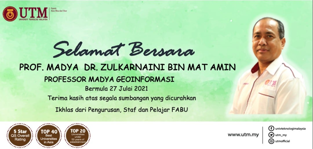 Selamat bersara Prof Madya Dr Zulkarnaini bin Mat Amin. Terima kasih atas segala jasa bakti sepanjang berkhidmat di FABU