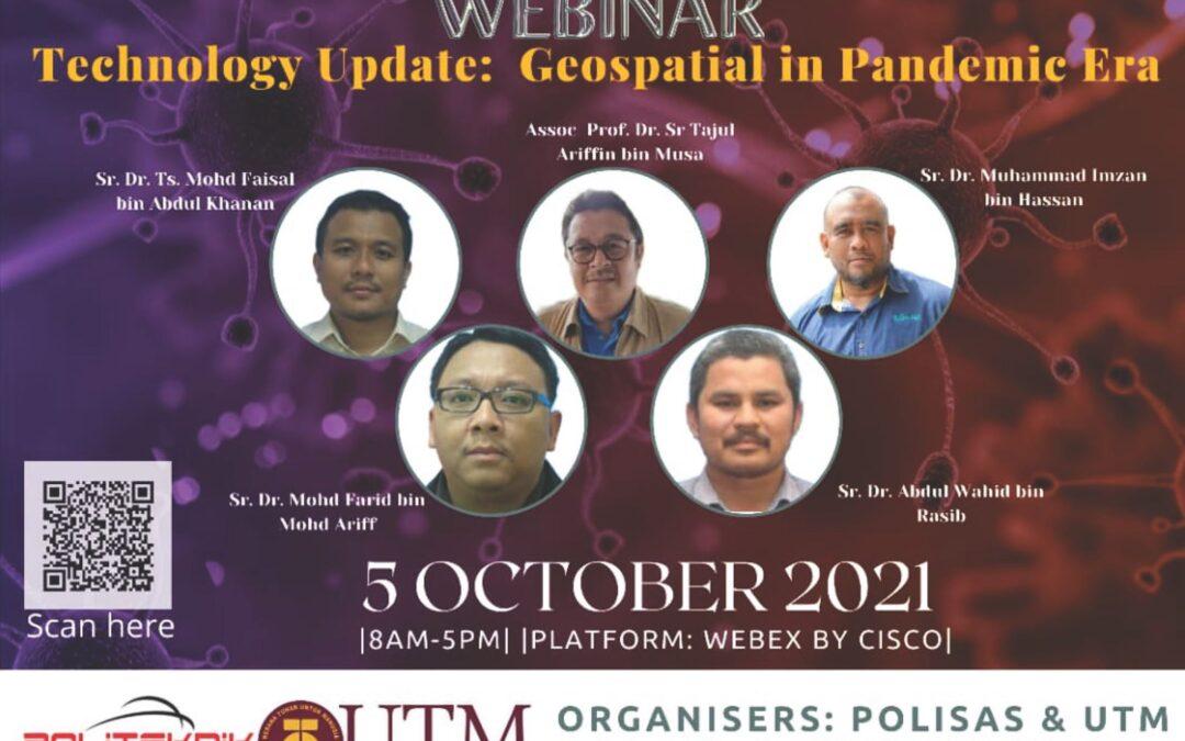 "Webinar ""Technology Update: Geospatial in Pandemic Era"""